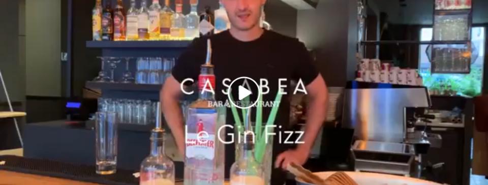 capture d'écran recette gin fizz casabea