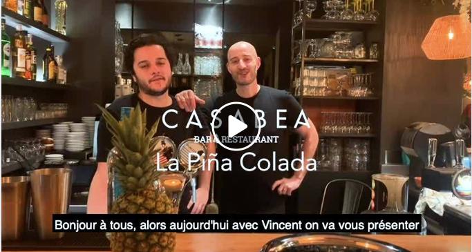 piña colada cocktail capture d'écran vidéo
